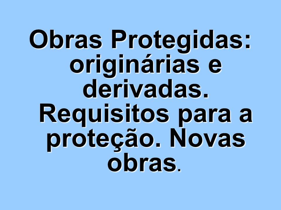 Obras Protegidas: originárias e derivadas. Requisitos para a proteção