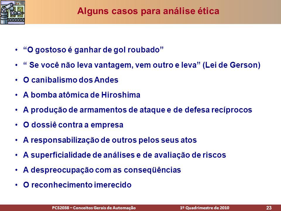 Alguns casos para análise ética