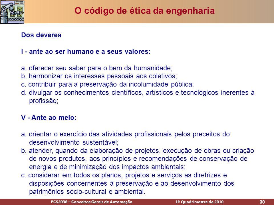 O código de ética da engenharia