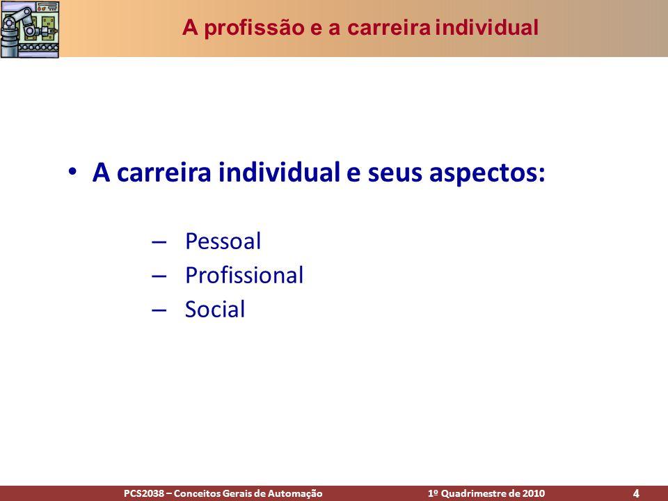 A carreira individual e seus aspectos: