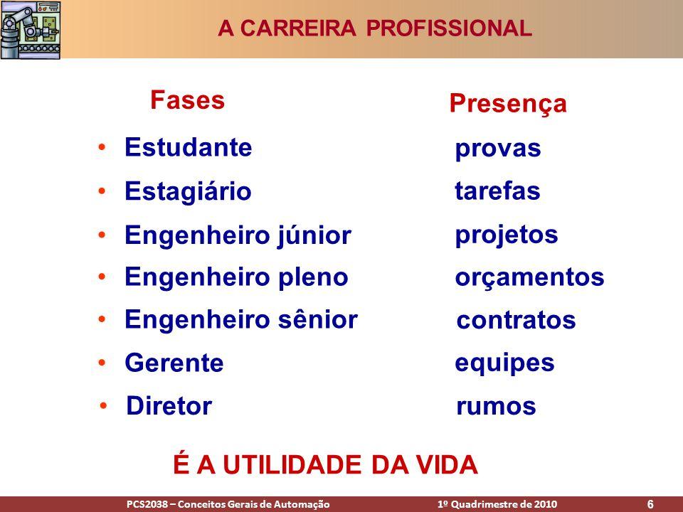 A CARREIRA PROFISSIONAL