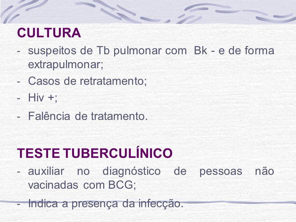 CULTURA TESTE TUBERCULÍNICO