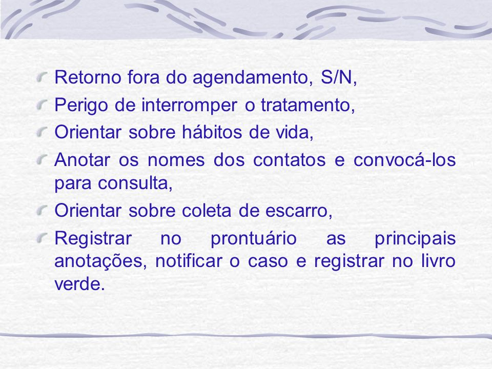 Retorno fora do agendamento, S/N,