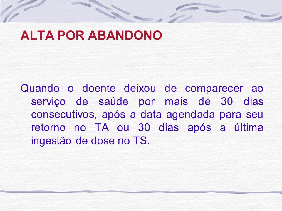 ALTA POR ABANDONO