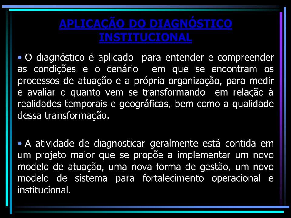 APLICAÇÃO DO DIAGNÓSTICO INSTITUCIONAL