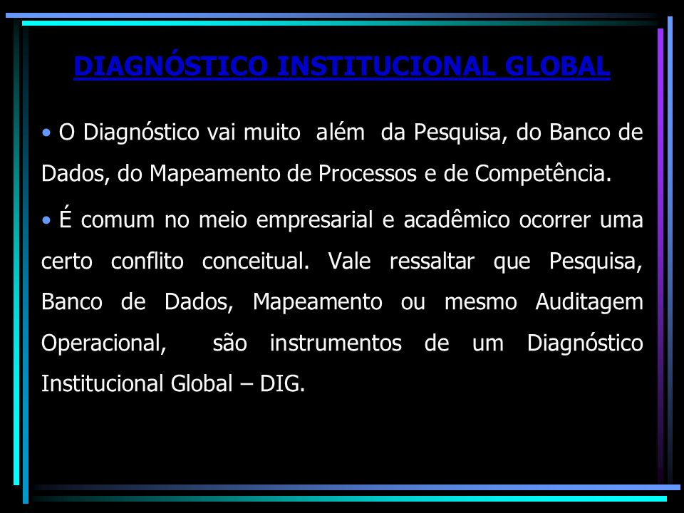 DIAGNÓSTICO INSTITUCIONAL GLOBAL