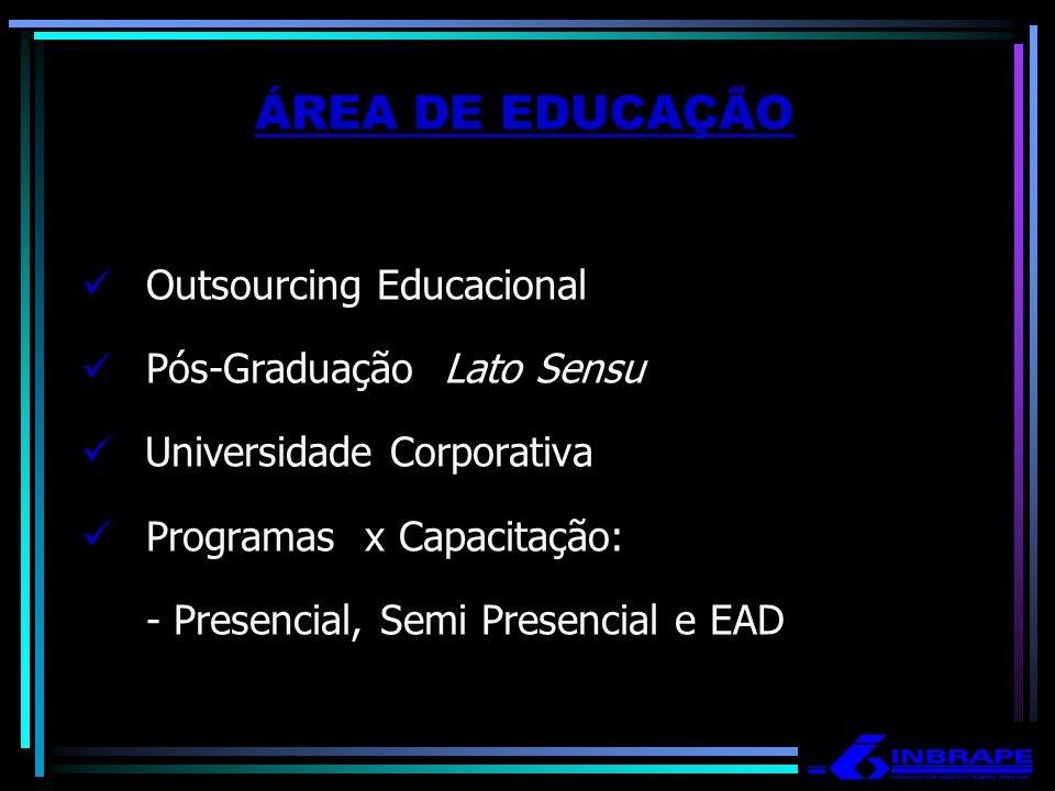 ÁREA DE EDUCAÇÃO Outsourcing Educacional Pós-Graduação Lato Sensu