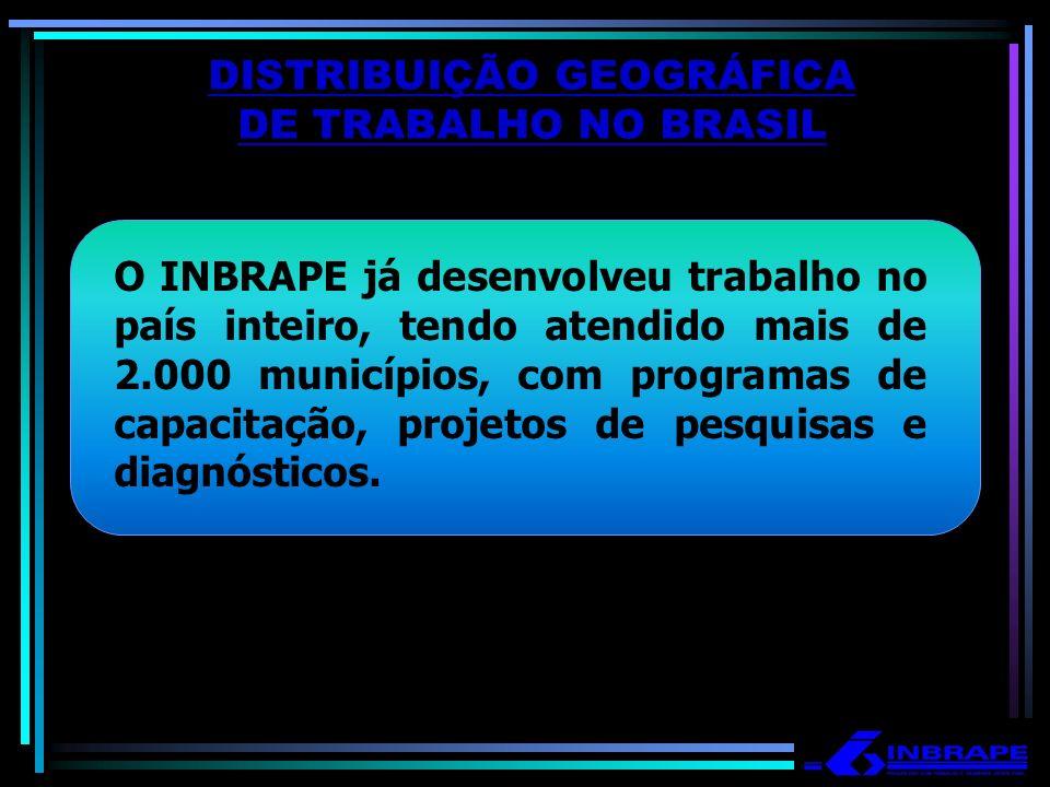 DISTRIBUIÇÃO GEOGRÁFICA DE TRABALHO NO BRASIL