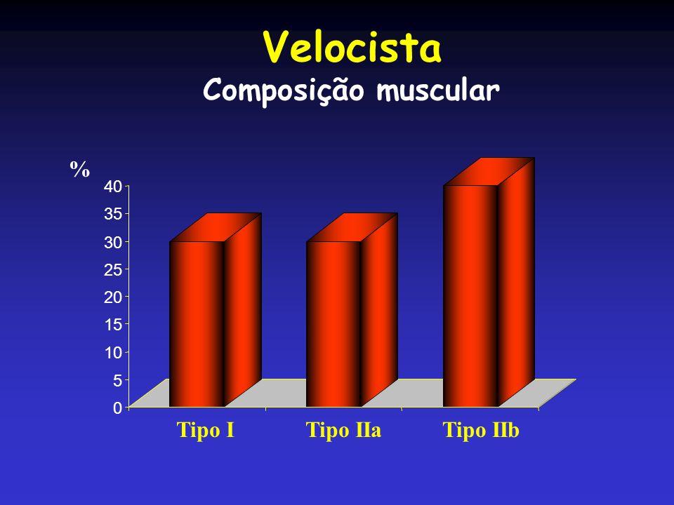 Velocista Composição muscular