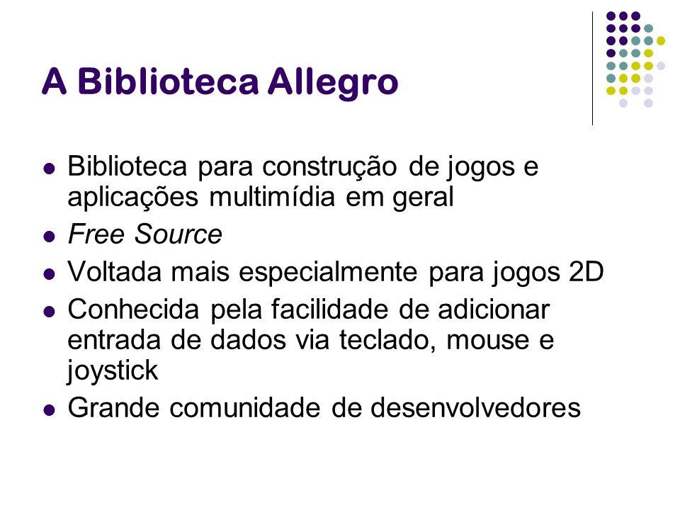 A Biblioteca Allegro Biblioteca para construção de jogos e aplicações multimídia em geral. Free Source.