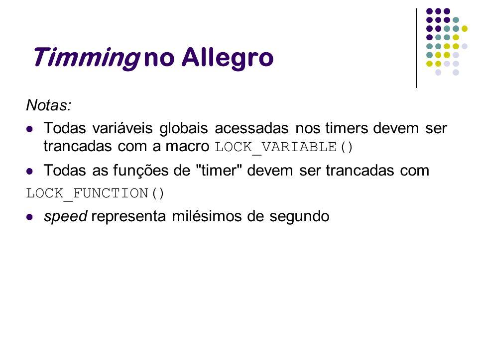 Timming no Allegro Notas: