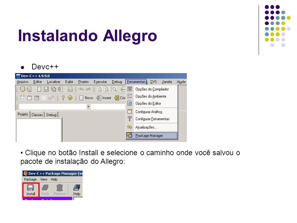 Instalando Allegro Devc++