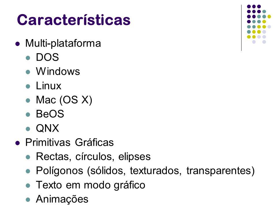 Características Multi-plataforma DOS Windows Linux Mac (OS X) BeOS QNX