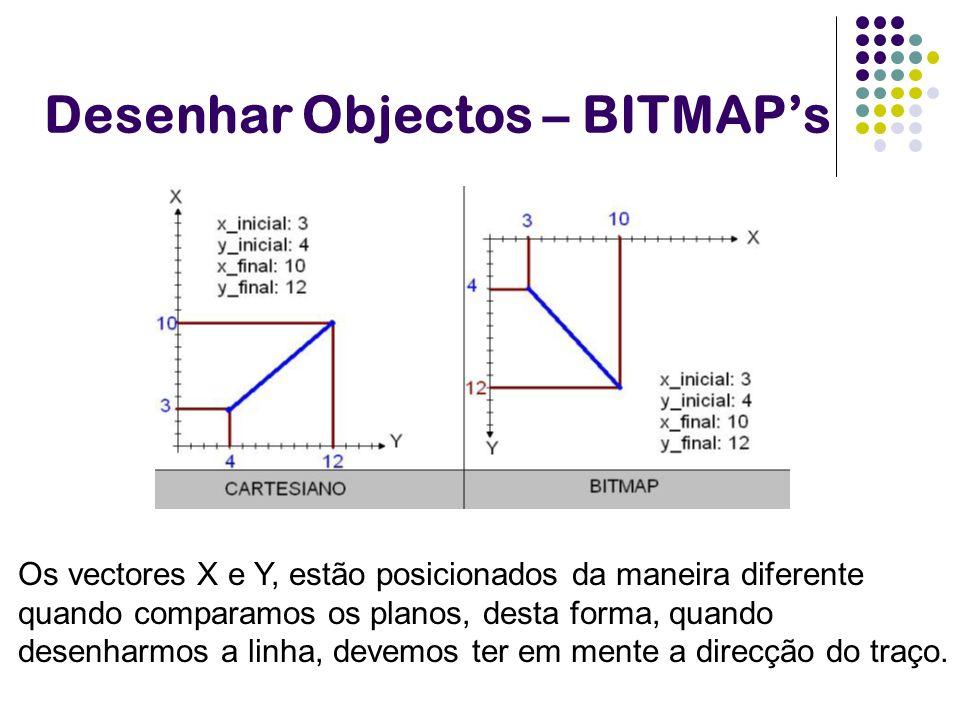 Desenhar Objectos – BITMAP's