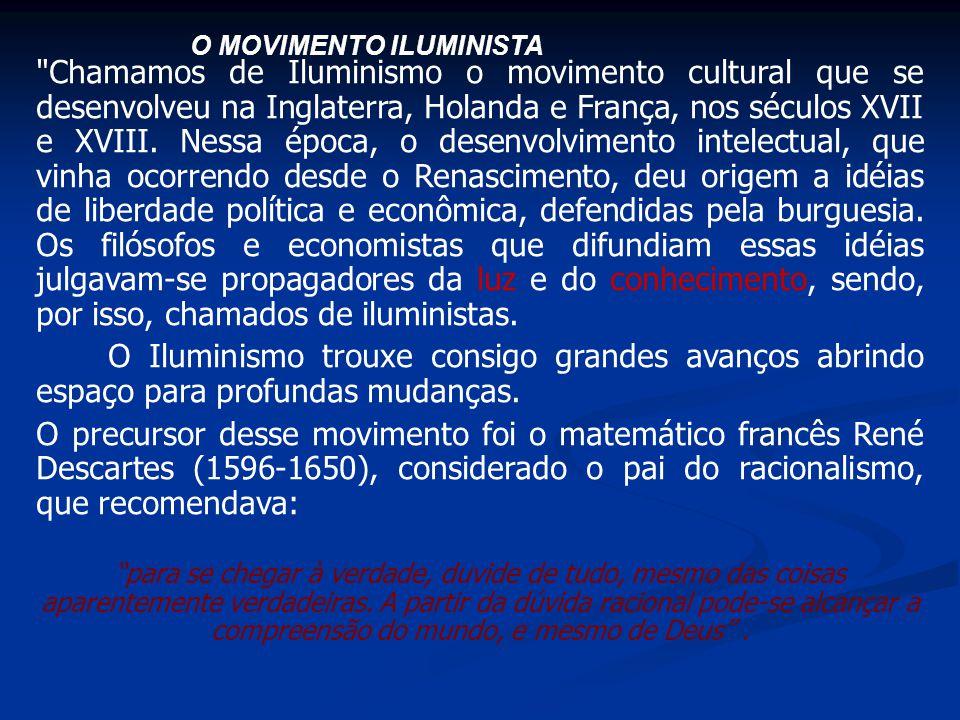 O MOVIMENTO ILUMINISTA