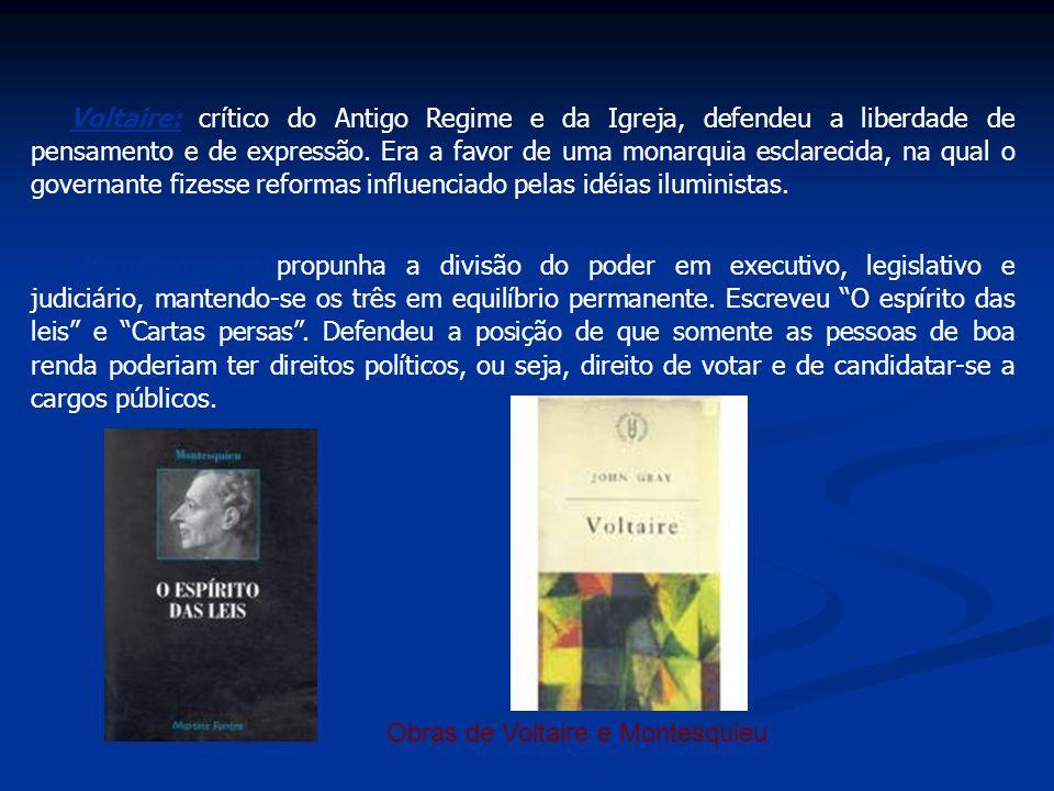 Obras de Voltaire e Montesquieu