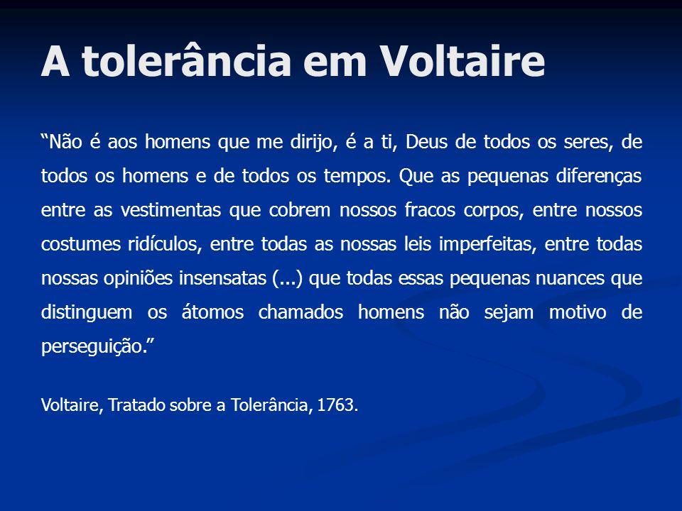 A tolerância em Voltaire