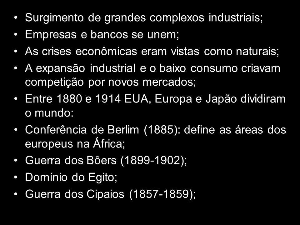 Surgimento de grandes complexos industriais;
