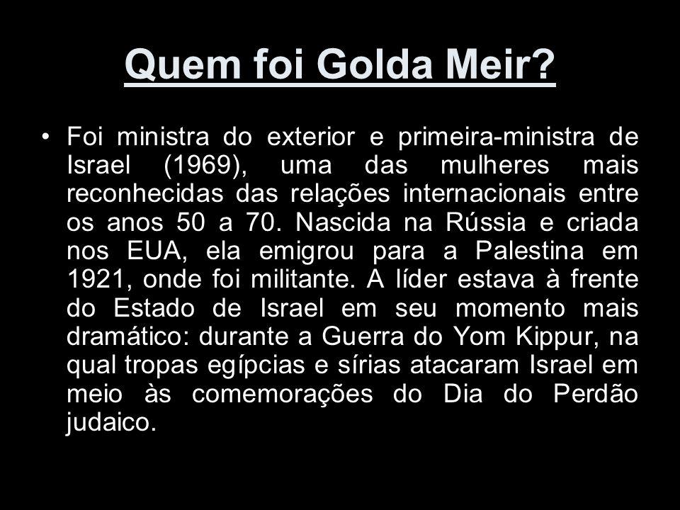 Quem foi Golda Meir