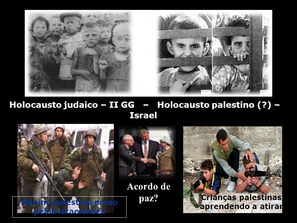Holocausto judaico – II GG – Holocausto palestino ( ) – Israel