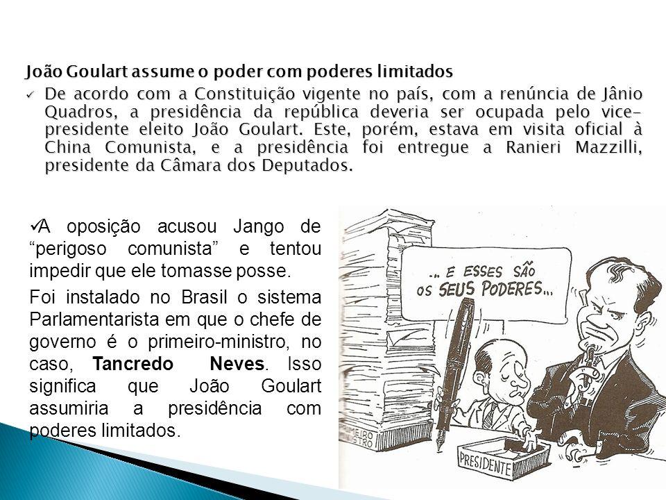 João Goulart assume o poder com poderes limitados