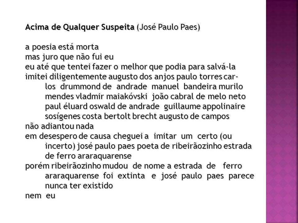 Acima de Qualquer Suspeita (José Paulo Paes)