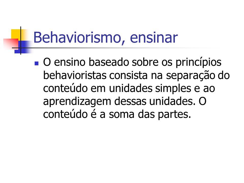 Behaviorismo, ensinar