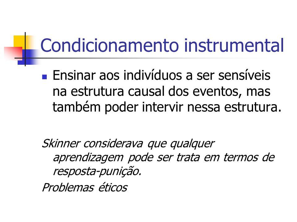 Condicionamento instrumental
