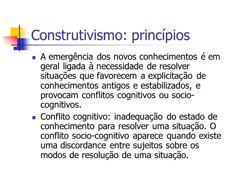 Construtivismo: princípios