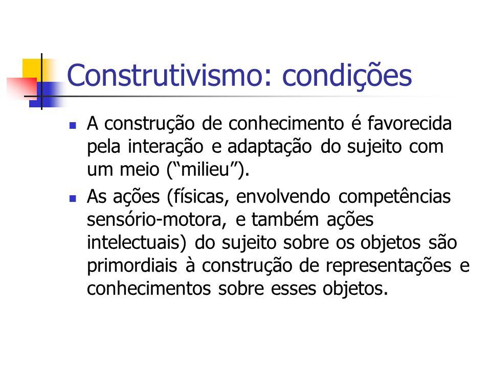 Construtivismo: condições