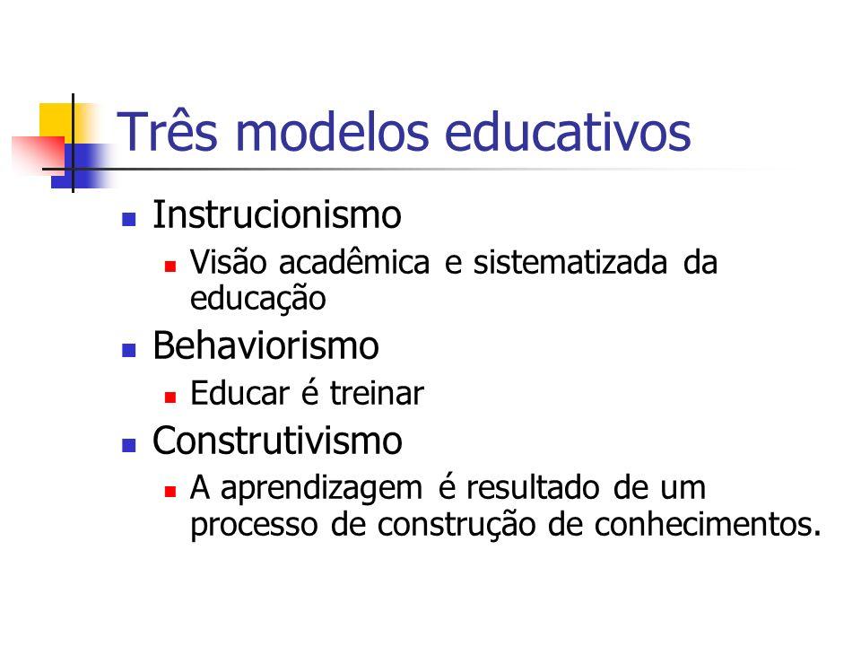 Três modelos educativos