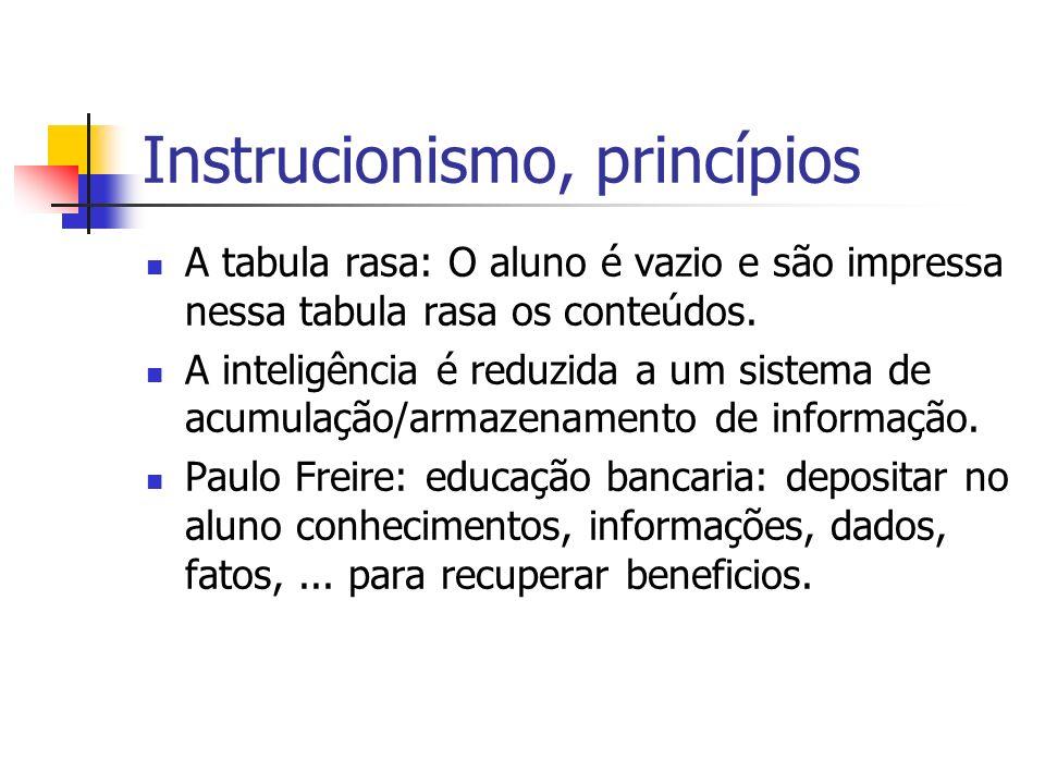 Instrucionismo, princípios