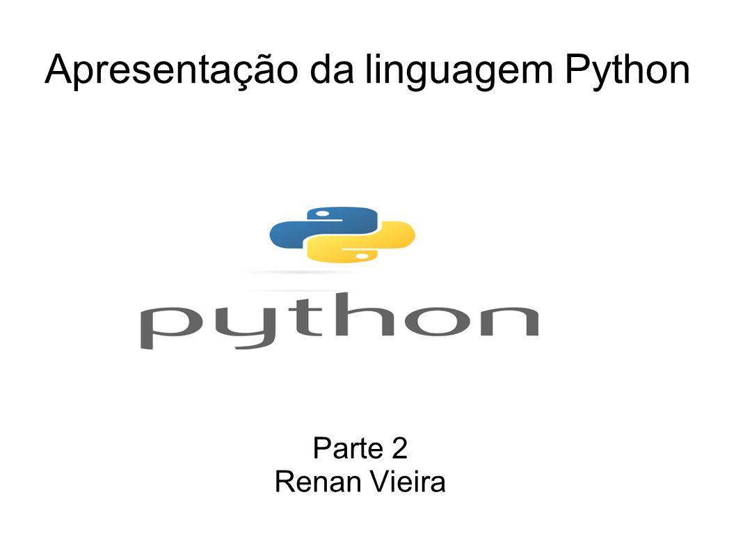 Apresentação da linguagem Python