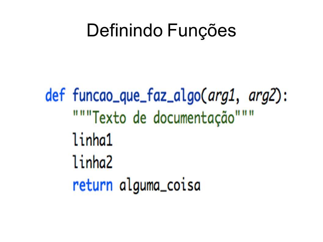 Definindo Funções