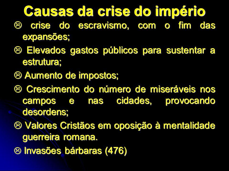Causas da crise do império