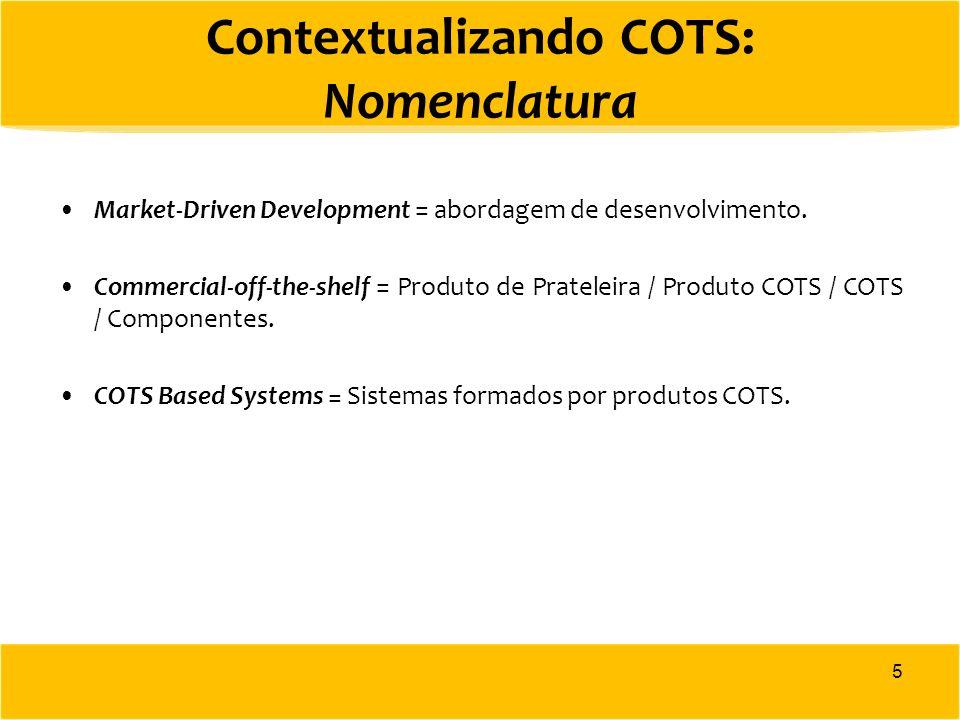 Contextualizando COTS: Nomenclatura