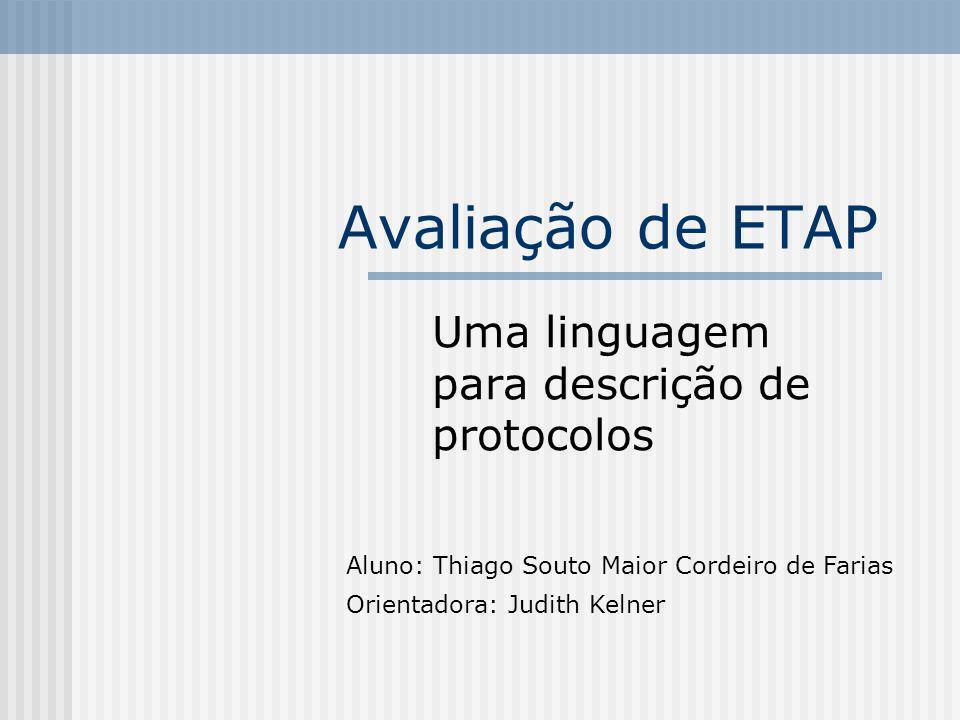 Uma linguagem para descrição de protocolos