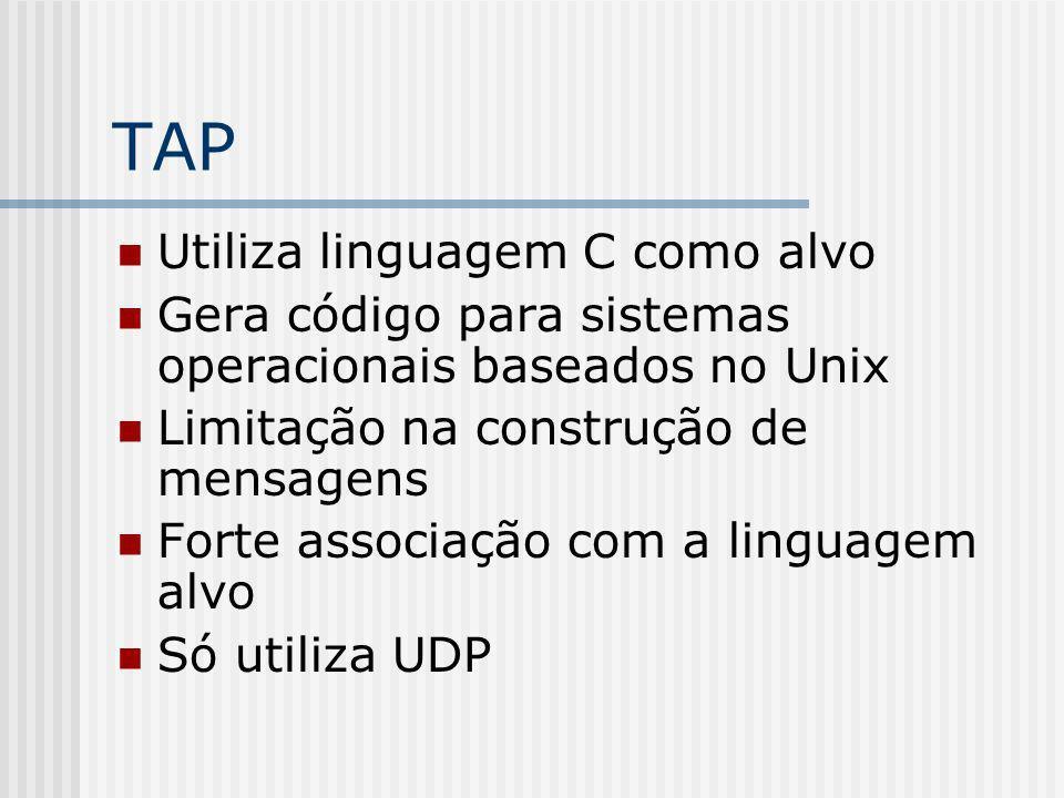TAP Utiliza linguagem C como alvo