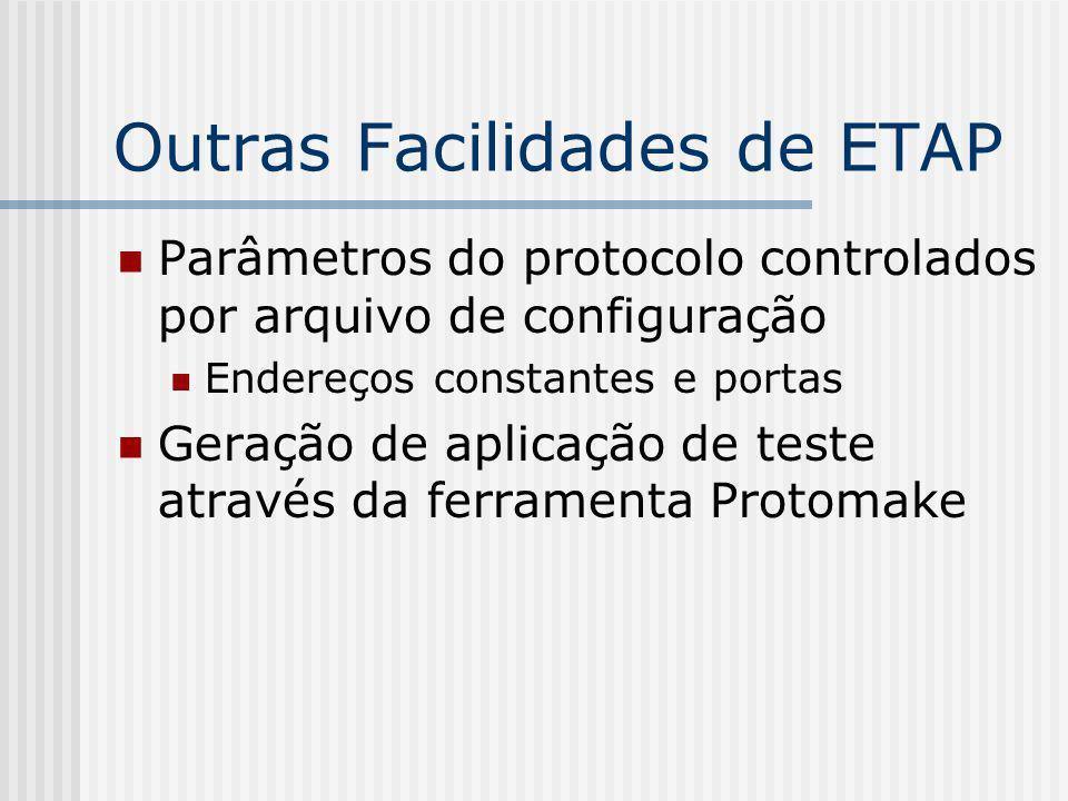 Outras Facilidades de ETAP