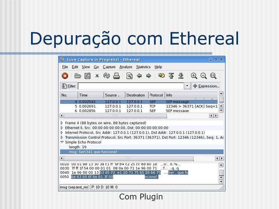 Depuração com Ethereal