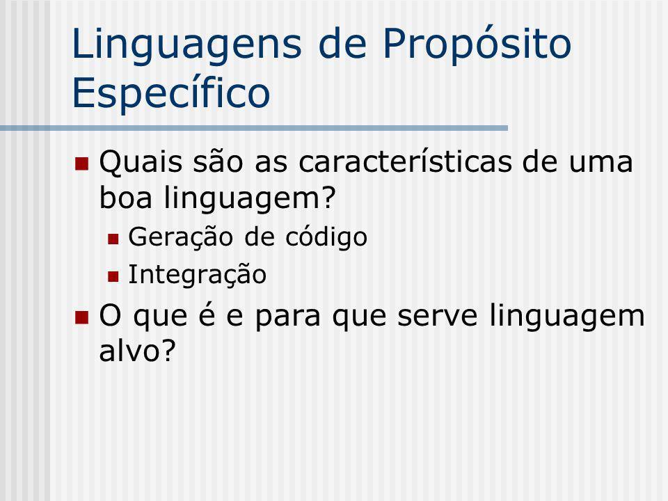 Linguagens de Propósito Específico