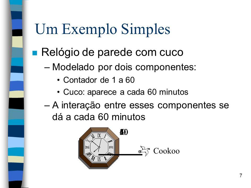 Um Exemplo Simples Relógio de parede com cuco