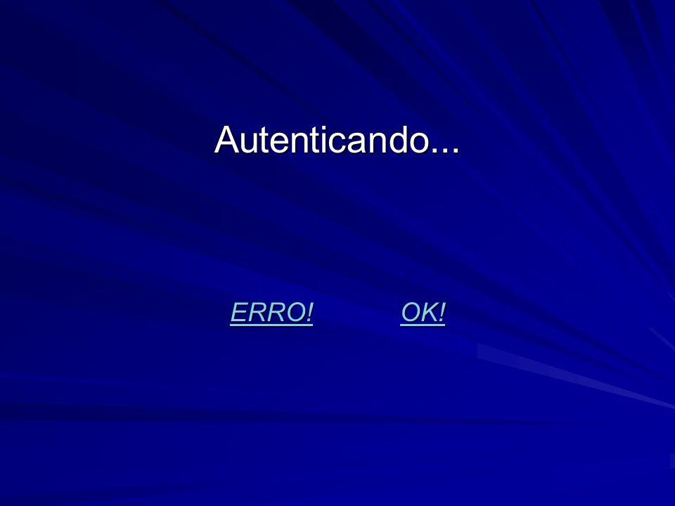 Autenticando... ERRO! OK!