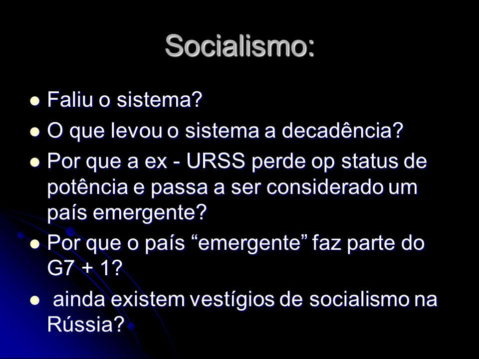 Socialismo: Faliu o sistema O que levou o sistema a decadência