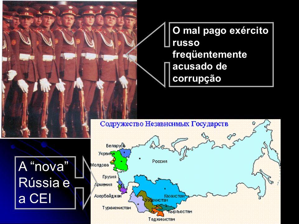 O mal pago exército russo freqüentemente acusado de corrupção
