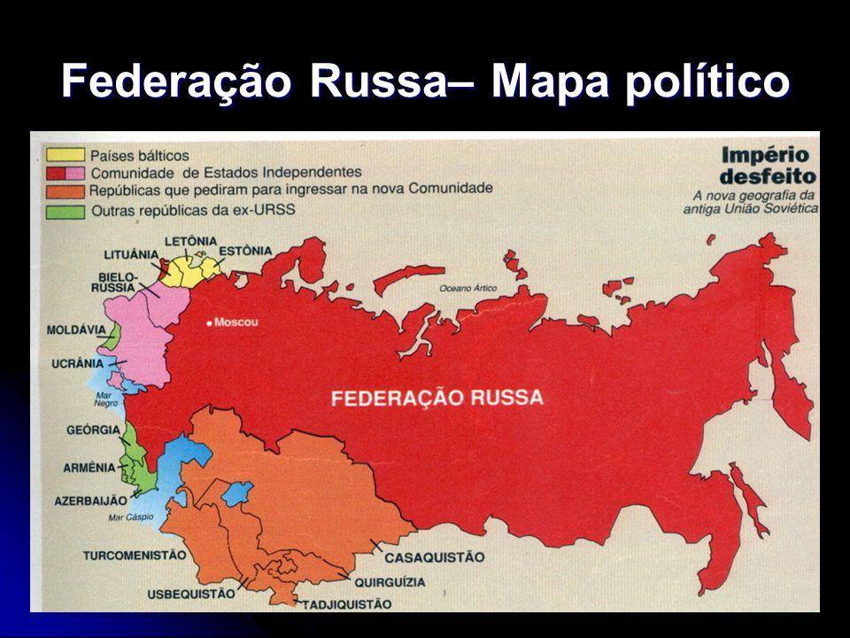 Federação Russa– Mapa político