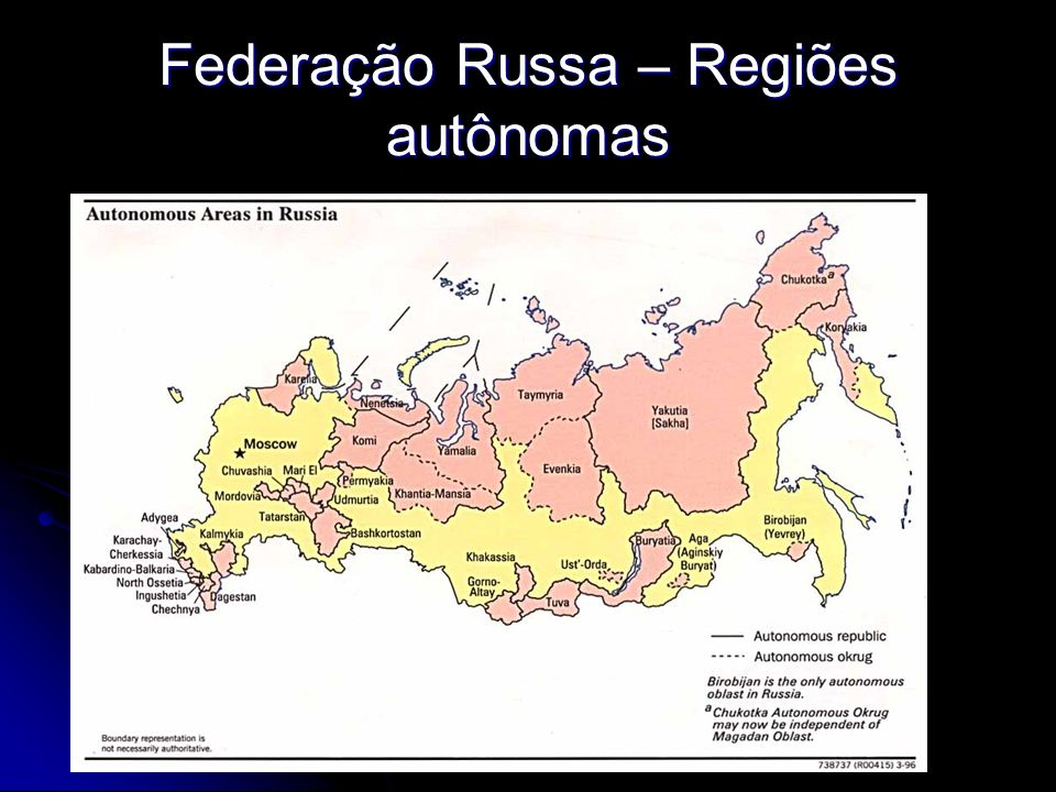 Federação Russa – Regiões autônomas