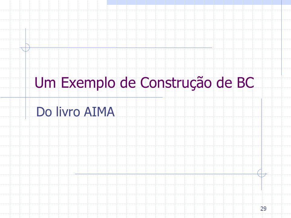 Um Exemplo de Construção de BC