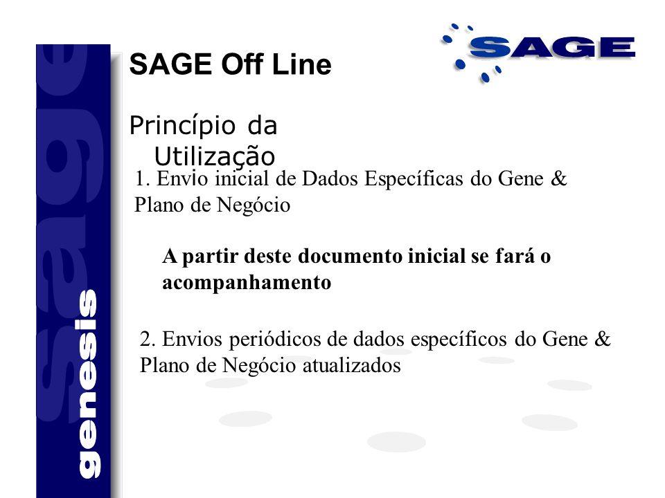 SAGE Off Line Princípio da Utilização