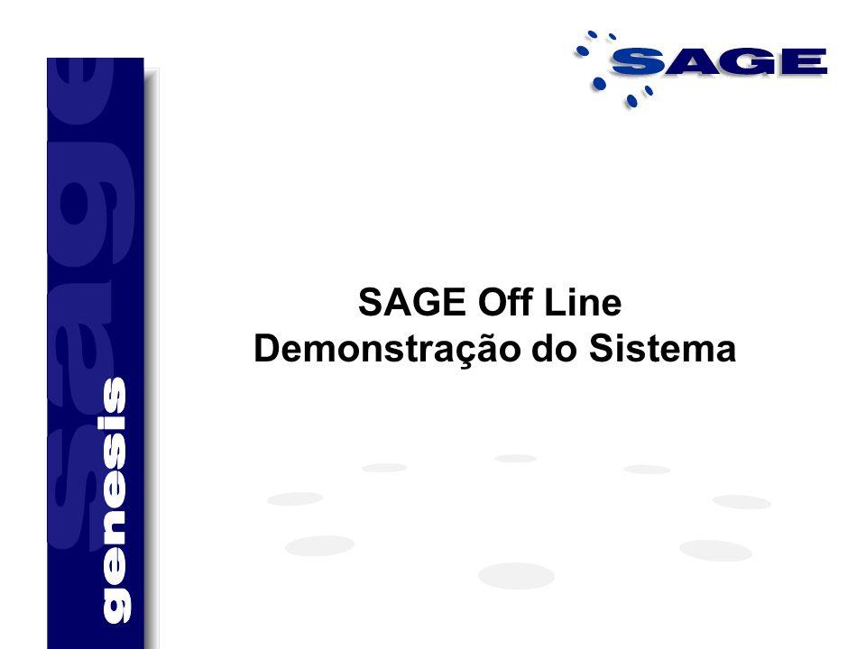 SAGE Off Line Demonstração do Sistema
